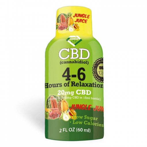 4-6 Hours of Relaxation Diamond CBD Shot 20mg (60ml) - Jungle Juice [Single]