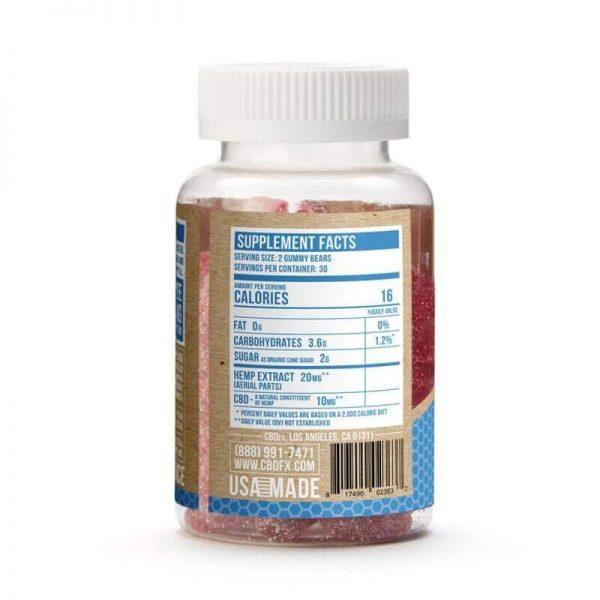 CBD Gummy Bears 300mg-Supplement Facts