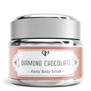 Diamond CBD Hemp Body Scrub Chocolate