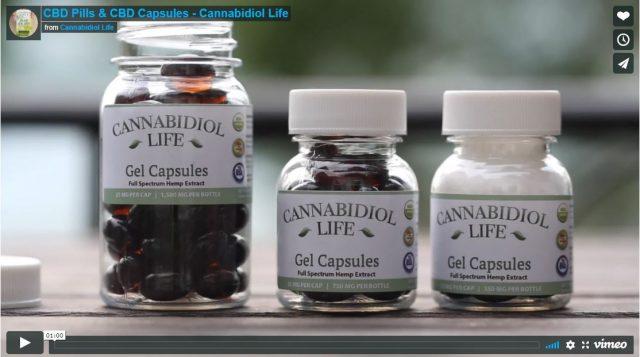 Cannabidiol Gel Capsules