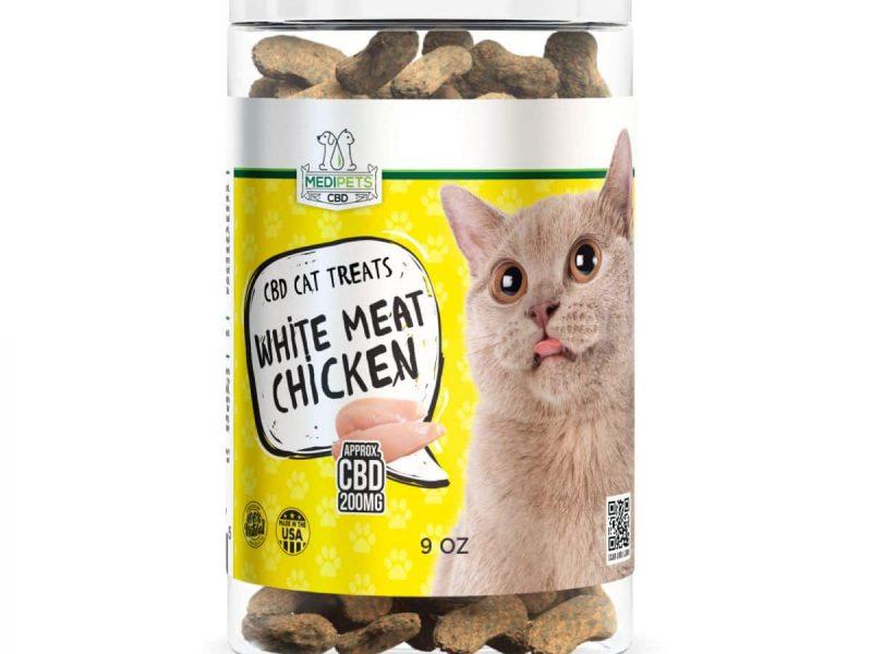 Natural chicken cat treats